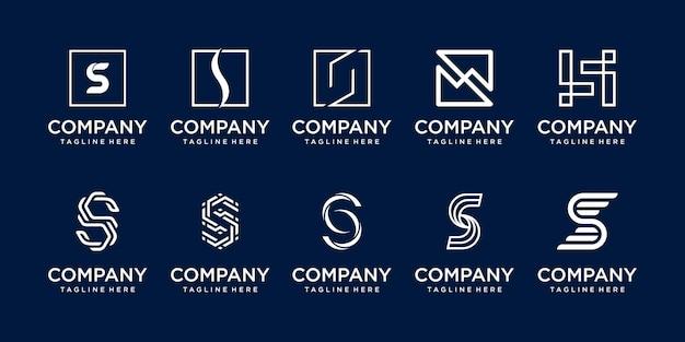 ファッションスポーツビルドのビジネスのための頭文字sssロゴアイコンセットデザイン