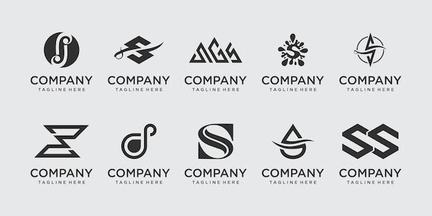 ファッションスポーツのビジネスのための頭文字sssロゴアイコンセットデザイン