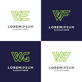 Initial letter w inspiration logo for brand and business