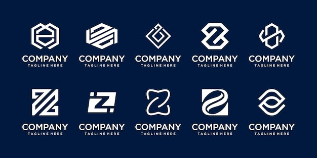 Initial letter z logo icon set design for business of fashion sport technology
