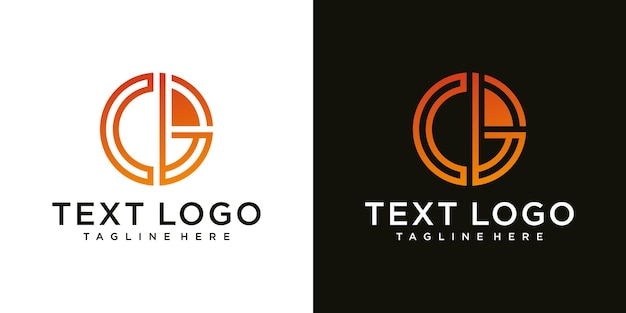 Initial lowercase letter logo cb bc b inside c monogram rounded shape luxury