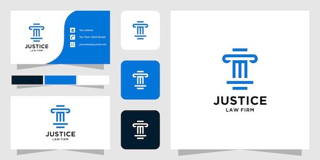 Шаблон логотипа initial m law firm и визитная карточка
