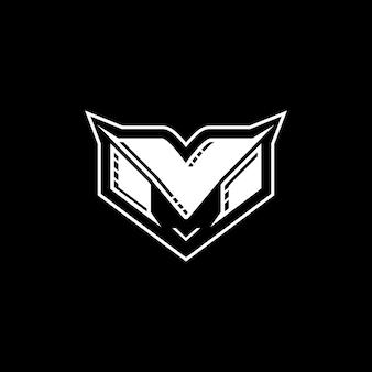 이니셜 m 로고 디자인
