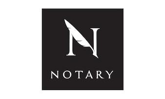 Initial / Monogram N for Notary logo