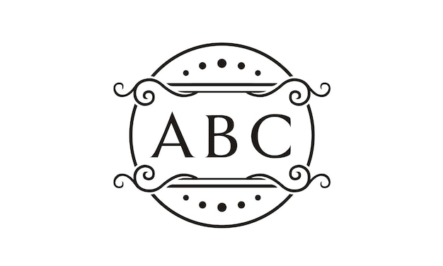 Initial / monogram with floral frame