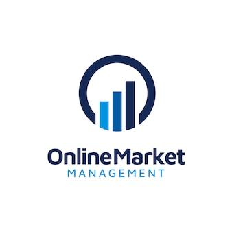 Initial o & statistics business chart bar logo