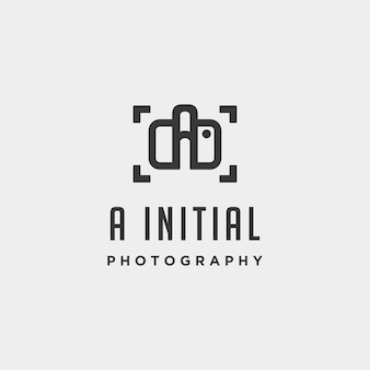 A initial photography logo template vector design icon element