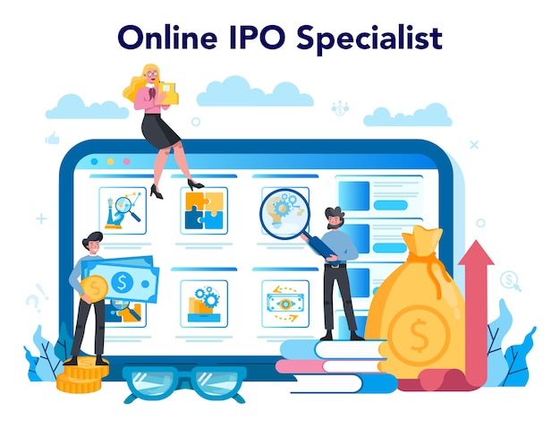 Initial public offerings specialist online service or platform
