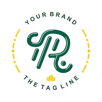 Initial r logo template