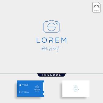 Initial s camera shutter logo design vector illustration icon