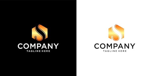 Initial s logo with business card template