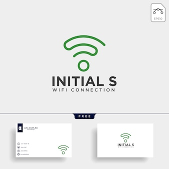 Initial s wifi communication logo