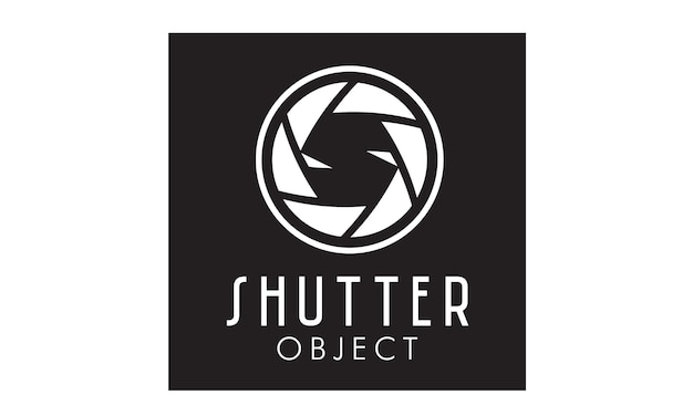 Initial s with shutter lens for photographer logo design
