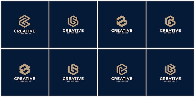 Initial set of b logo design inspiration