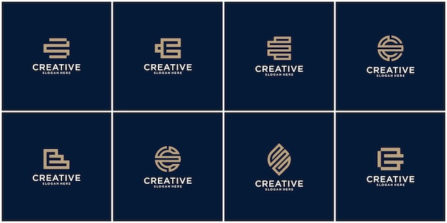 Initial set of e logo design inspiration