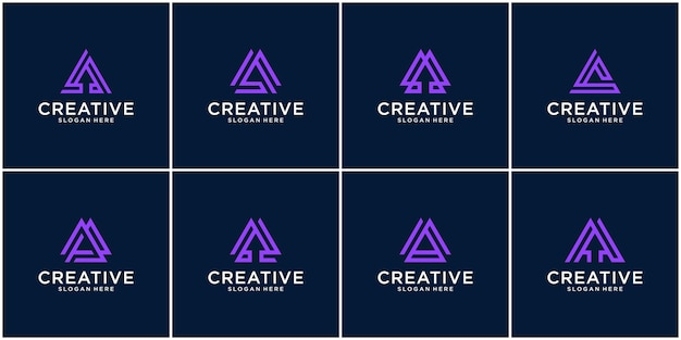 Initial set of a logo  inspiration