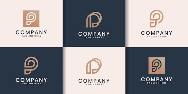로고 디자인 영감의 초기 세트