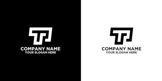 Initial t or p logo designs template premium vector