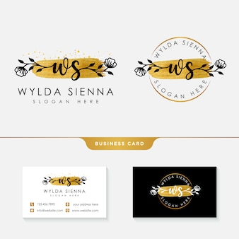 Initial ws feminine logo collections template.