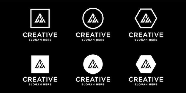 イニシャルcaロゴデザインテンプレート