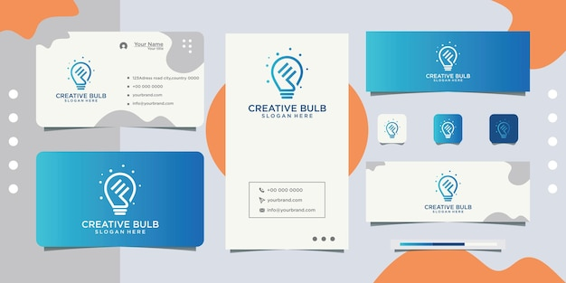 Initials f in lights and business cards