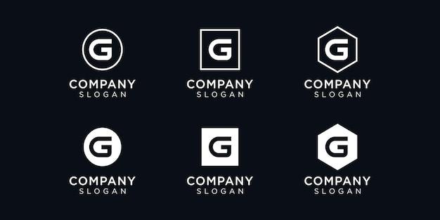 이니셜 g 로고 디자인 템플릿
