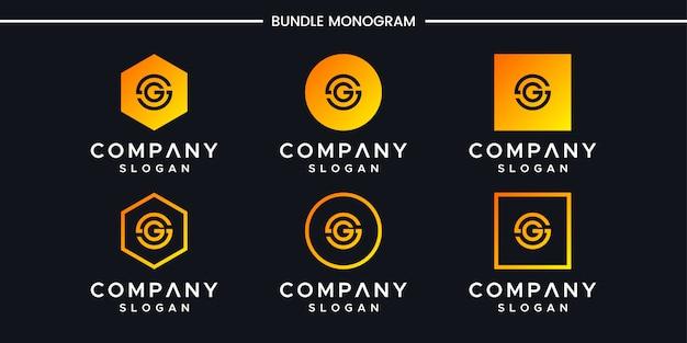 イニシャルgロゴデザインテンプレート。