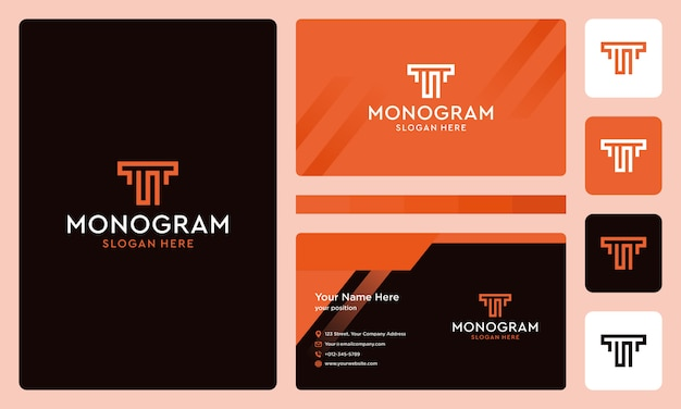 Initials letter ts monogram logo collection. business card design