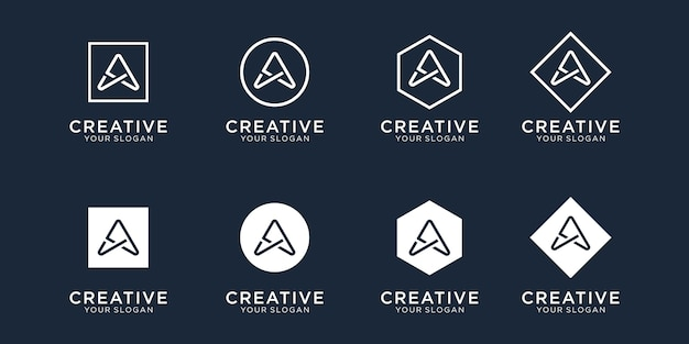 Initials a logo design template