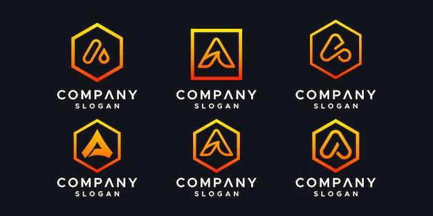 Initials a logo design template.