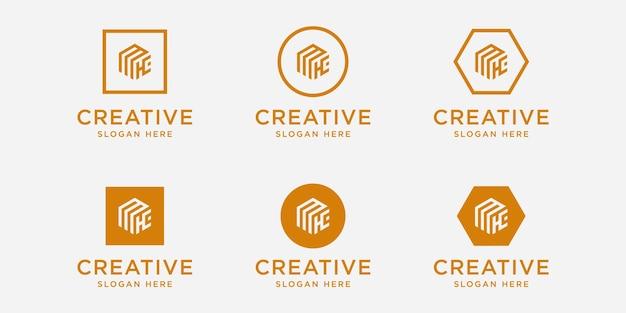 イニシャルmkロゴデザインテンプレート