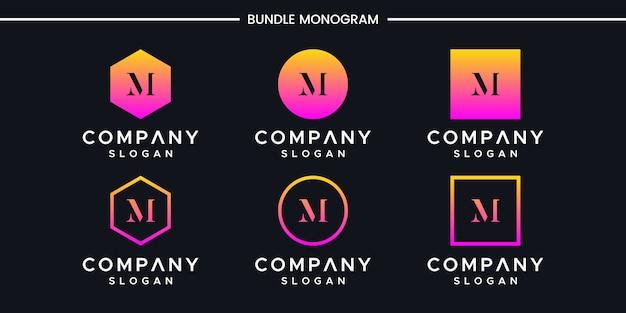 イニシャルmロゴデザインテンプレートです。