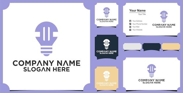 이니셜 모노그램 로고 c idea lamp simple for company 비즈니스 및 명함