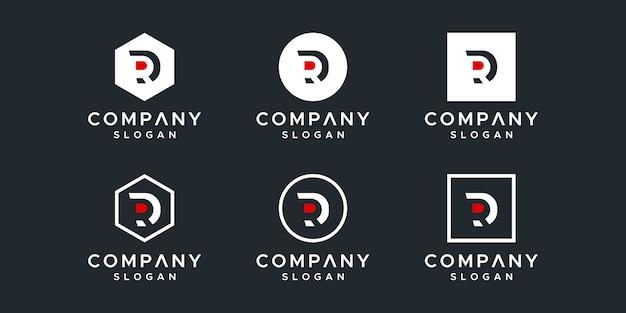 イニシャルrロゴデザインテンプレート。