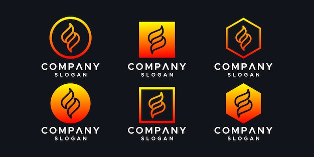 イニシャルのロゴデザインテンプレートです。