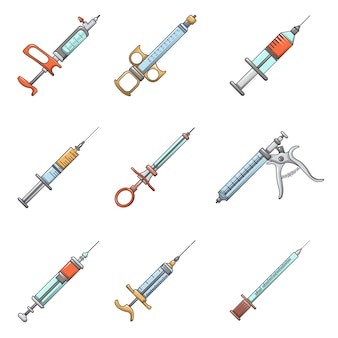 Injection icons set