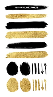 インクと金のストローク