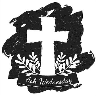 Inchiostro croce del mercoledì delle ceneri