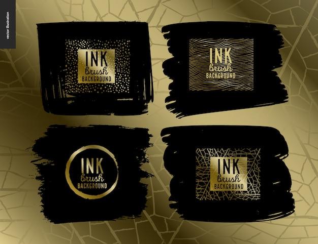 Ink brush background group set