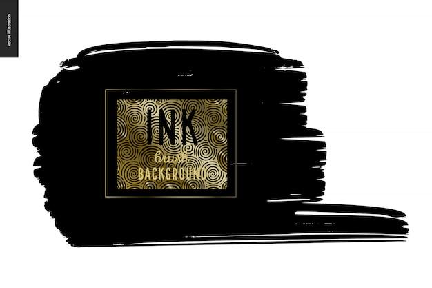 Ink brush background