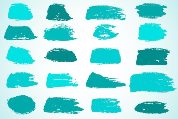 Collezione di pennellate di inchiostro