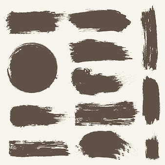 Ink brush stroke collection