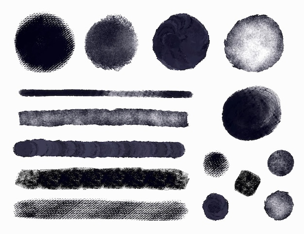 Ink brush stroke illustration collection