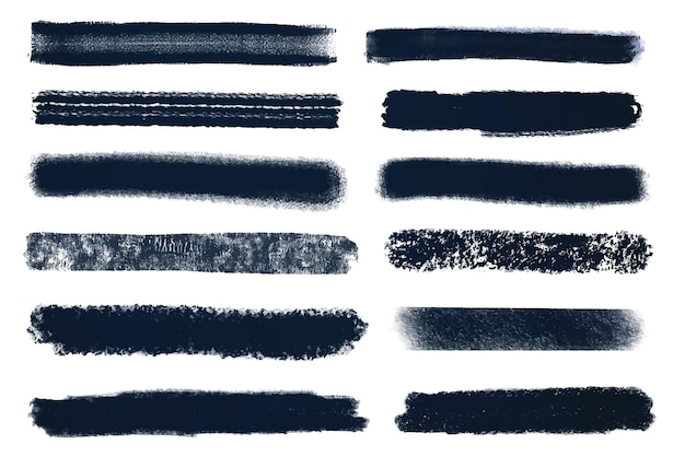 Ink brush stroke set illustration