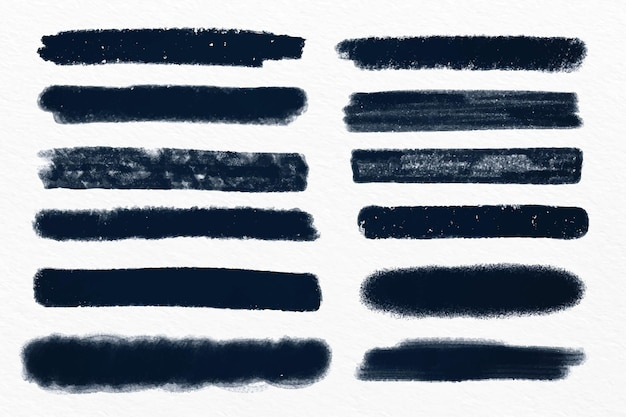 Ink brush stroke set