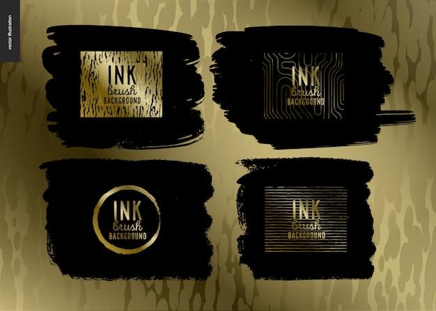 Набор фоновых кистей ink brush
