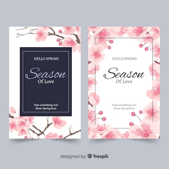 Ink cherry blossom cards