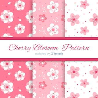 Ink cherry blossom patterns