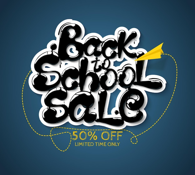 Ink flowing in lettering form back to school sale lettering for banners posters flyers