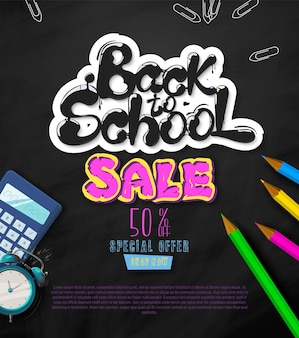 Ink flowing in lettering form back to school sale